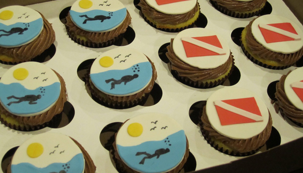 scuba cupcakes and scuba diving trends in 2012